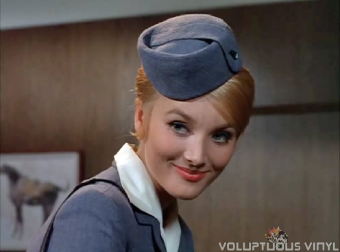 Sexy Barbara Bouchet as a stewardess in Irwin Allen's Voyage to the Bottom of the Sea
