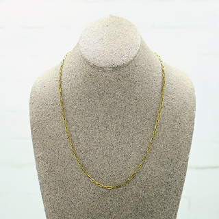 14 K Gold Cable Chain Necklace