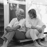 – Molly Malone Cook and Mary Oliver. Photo by Barbara Savage Cheresh, from Our World (Beacon Press, 2007).