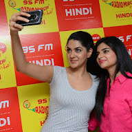 Selfie Raja Team at Radio Mirchi