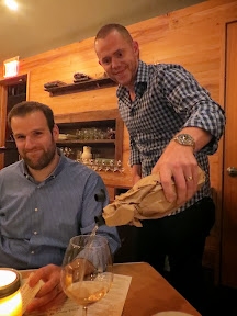 A Grand Feast of Oregon, by Hawks View Cellars and Irving St Kitchen: AJ and Pouring of the Hawks View Mystery Wine