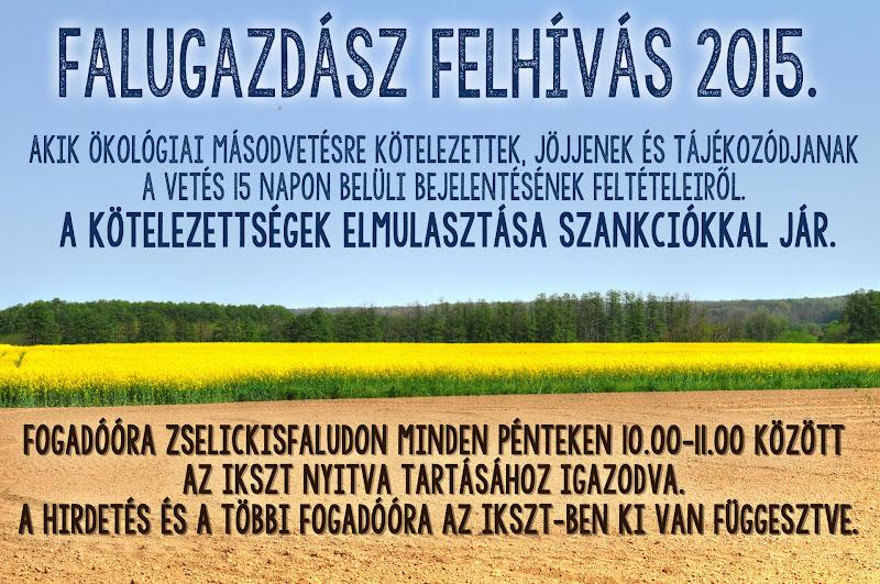 Falugazdász felhívás Zselickisfalud 2015.