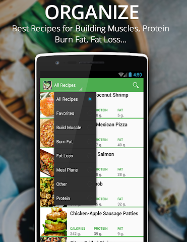 android Healthy Recipes Fitness Muscle Screenshot 3