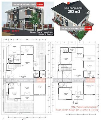 desain rumah megah asri 2 lantai di sorong @ jasa desain rumah