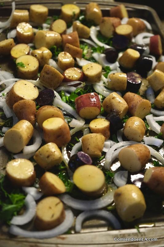 Recetas de papas asadas a las hiervas