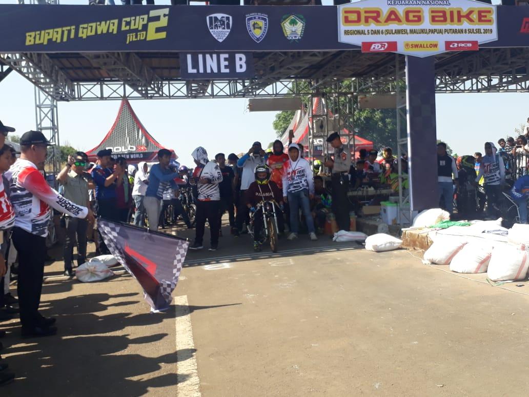 Bupati Cup 2 Drag Bike Dibuka Langsung Oleh Wakil Bupati Gowa Abd Rauf Malaganni