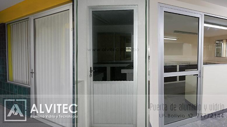 Modelos de puertas de aluminio y vidrio La Paz Bolivia