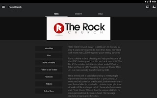 Screenshot of The Rock Church App