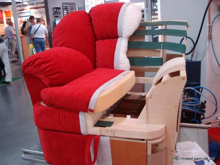 Мягкое кресло в разрезе