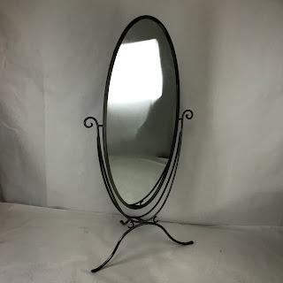 Freestanding Oval Mirror