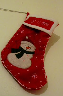 Let it Snow Christmas stocking