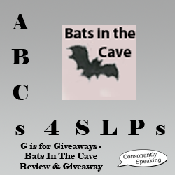 ABCs 4 SLPs: G is for Giveaways - Bats in the Cave App Review and Giveaway image