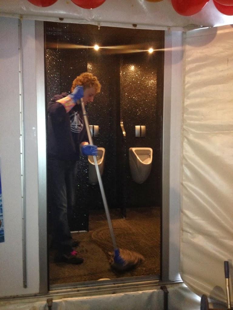 Even flink schoonmaken ...