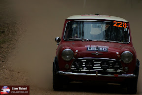 Sam Tickell.  Coates Hire Rally Australia 2013 - historic class