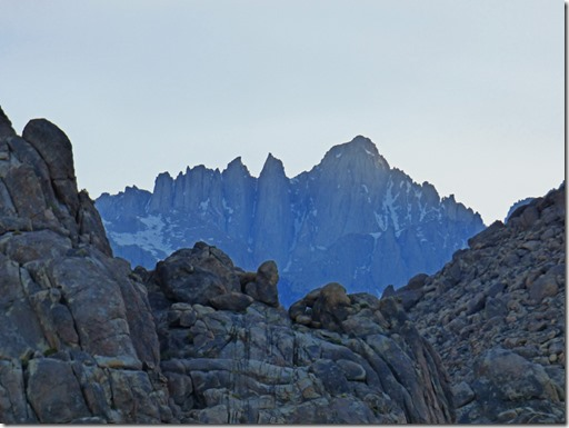 Mount Whitney, from our boondocking site,  Alabama Hills near Lone Pine CA