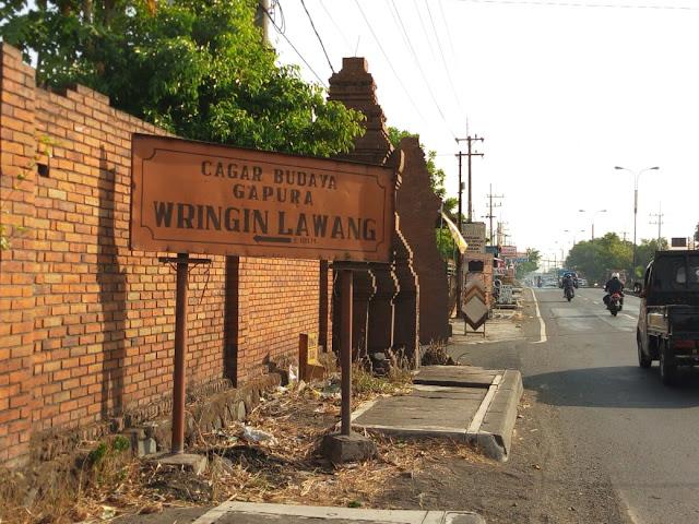 Papan Nama Gapura Wringin Lawang Trowulan