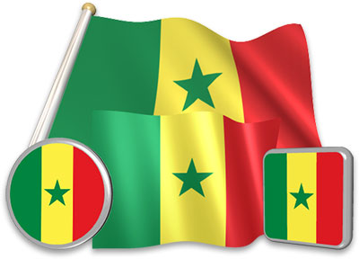 Senegalese flag animated gif collection