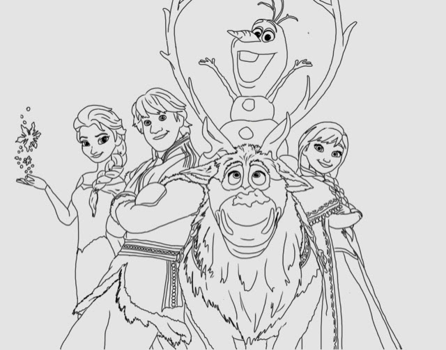 Frozen - Free Coloring Pages Printables for Kids