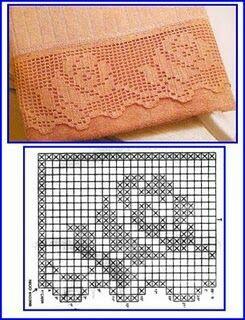Schemi bordi all 39 uncinetto for Bordi uncinetto per asciugamani schemi