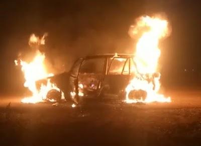 खबर तत्काल : अल्टो कार में लगी आग ,पूरी तरह जलकर खाक | Shivpuri News