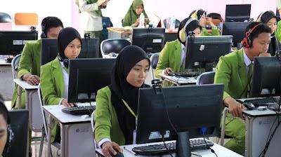 Hadapi UN, Siswa Pertanian Banjarbaru Gelar Simulasi Tahap 2 UNBK