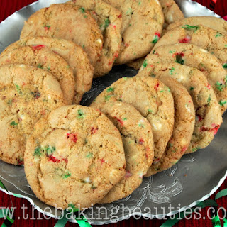 Gluten Free White Chocolate and Peppermint Cookies.
