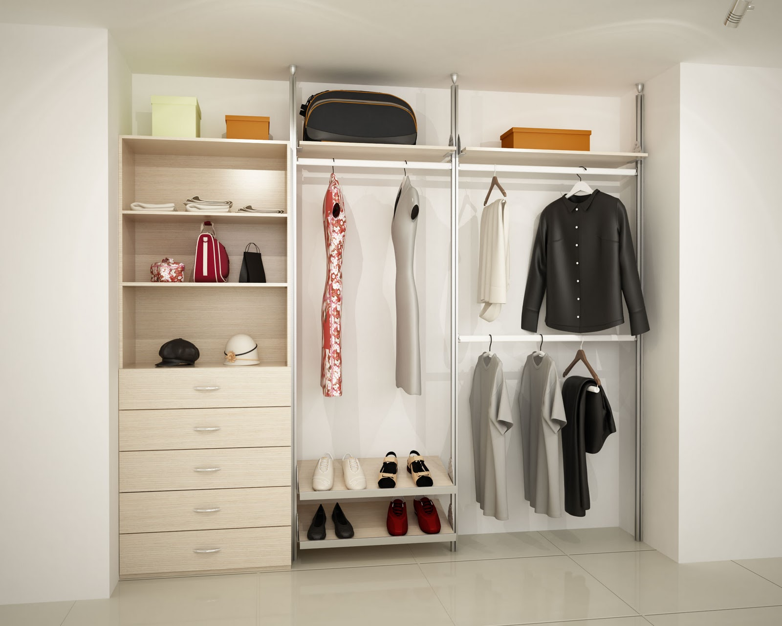Orbis home closets modulares closets linea dynamic for Closet modernos armables