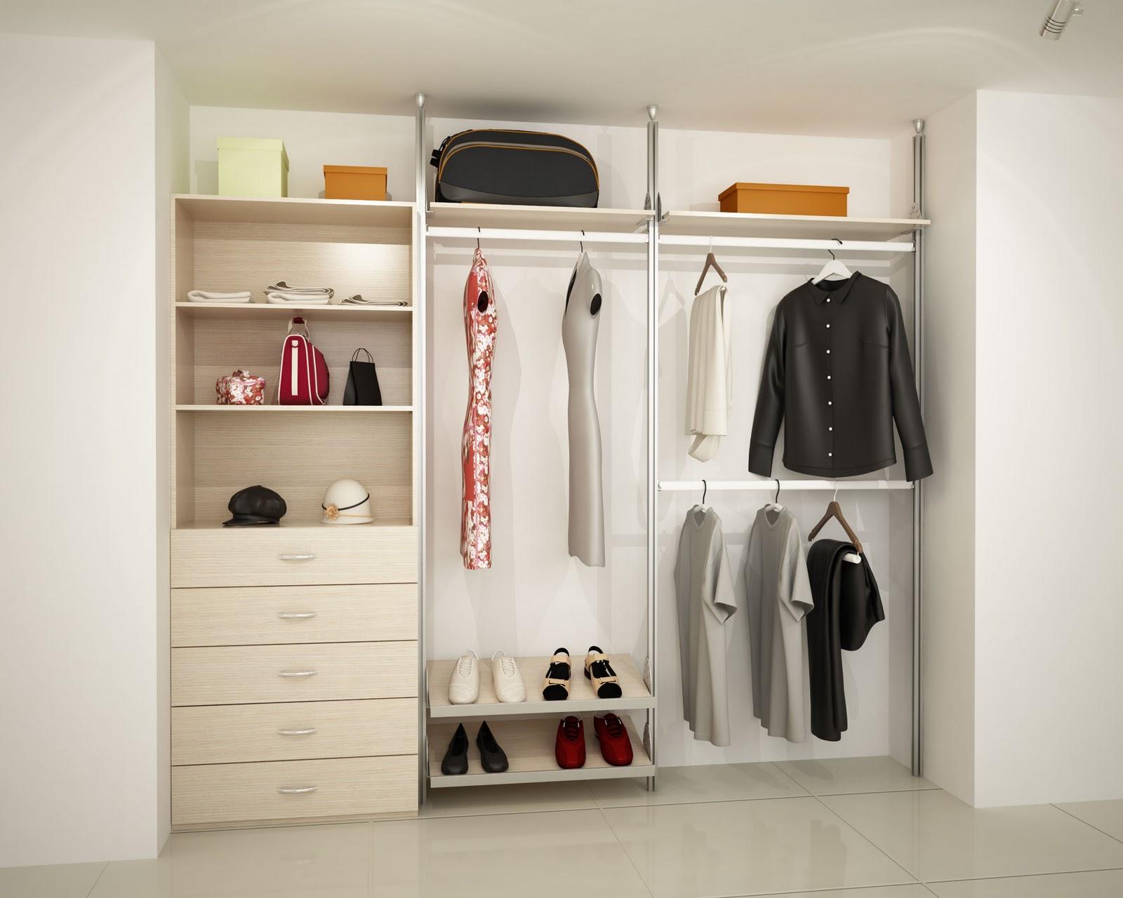 Orbis home closets modulares closets linea dynamic - Armario sin puertas ...