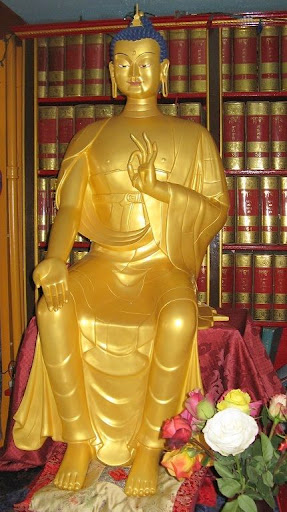 Maitreya Statue at Kurukulla Center, Medford, Massachusetts, USA, April 2012