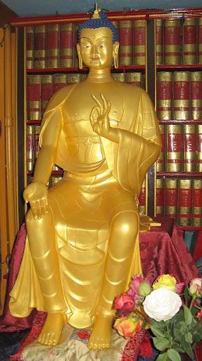 Maitreya Statue at Kurukulla Center, Medford, Massachusetts, USA, April 2012