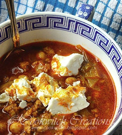 Stew with feta