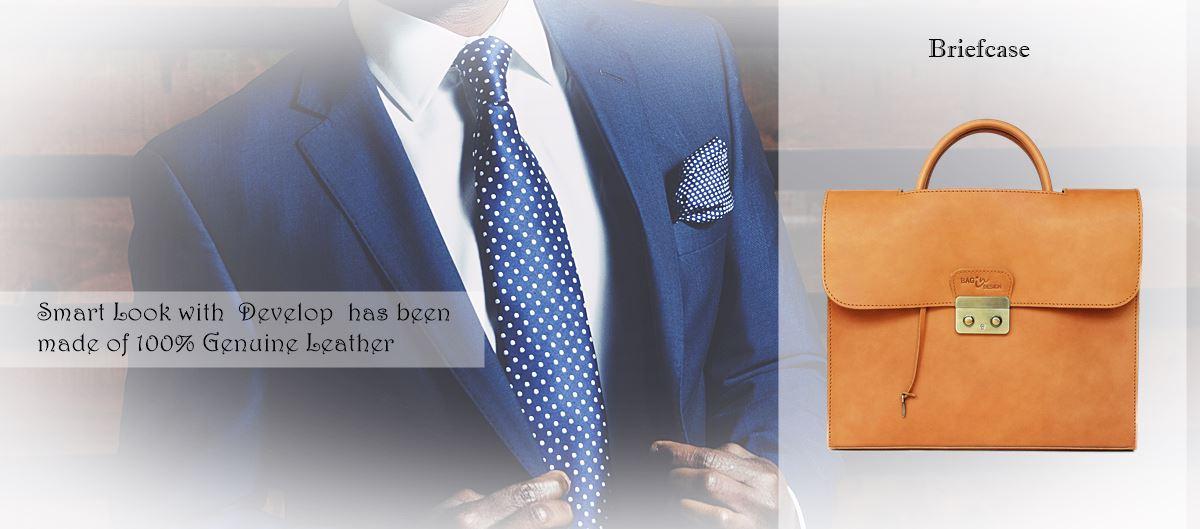 กระเป๋าหนังแท้ ผู้ชาย Develop Briefcase bag leather