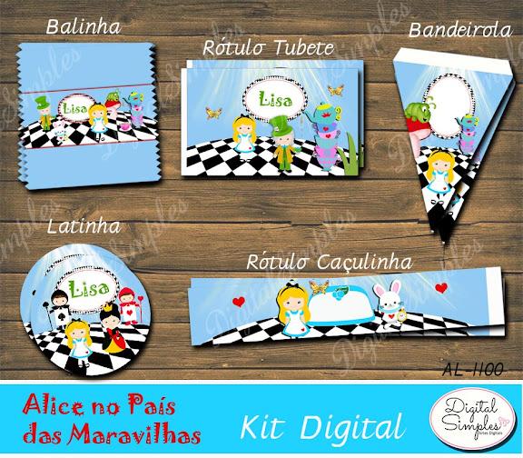 Kit Digital Alice Wonderland .....artesdigitalsimples@gmail.com