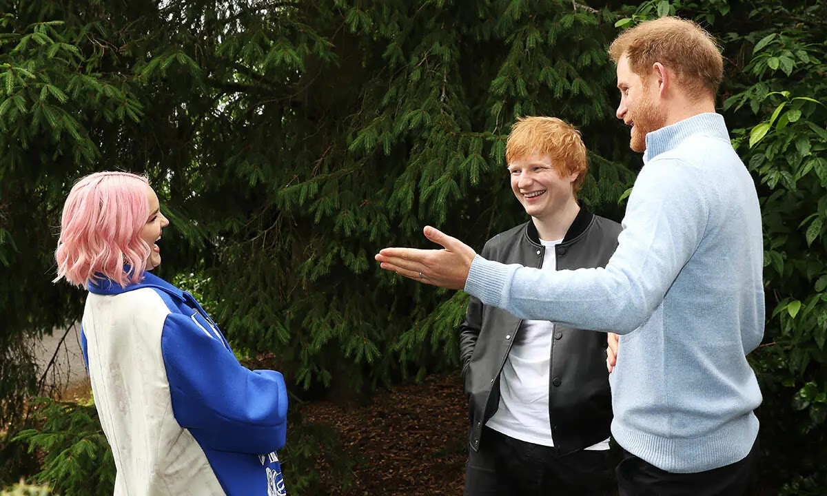 Prince Harry tells Friend Ed Sheeran Being a Dad-of-Two is 'a juggle' at WellChild Awards