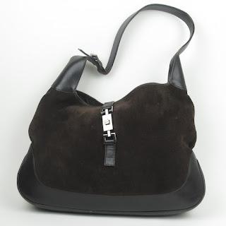Gucci Brown Suede & Leather Shoulder Bag