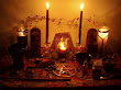 Wiccan Altair With 2 Candles