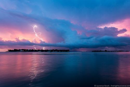 Lightning over the Florida Keys