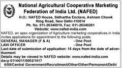NAFED Vacancy 2016 indgovtjobs