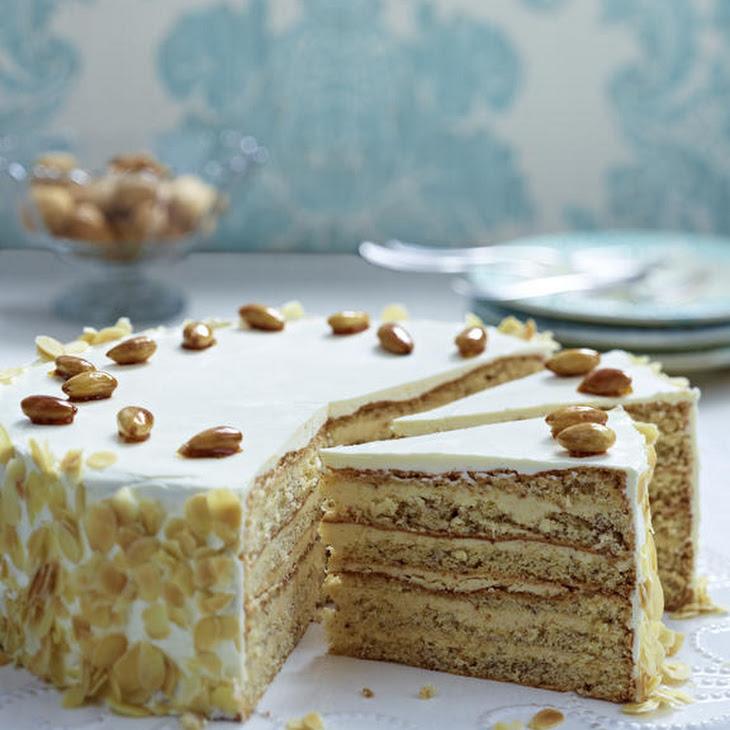 Almond Buttercream Layer Cake Recipe