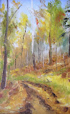 listopad w Górach Sowich olej, płótno
