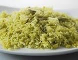 Lilva No Bhaat - Gujarati Lilva Rice Recipe