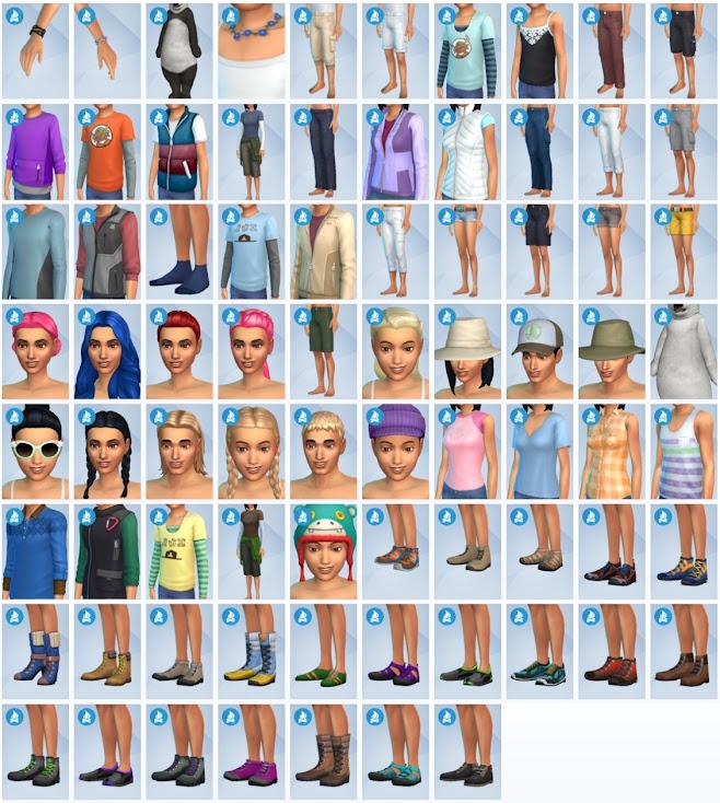 De Sims 4 In de Natuur nieuwe CAS-items