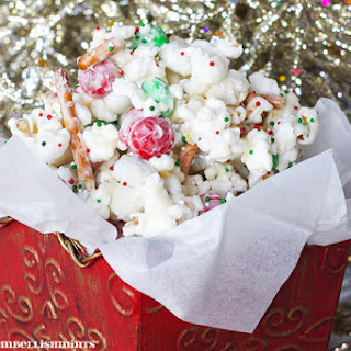Christmas Crunch White Chocolate Popcorn