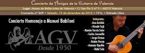 Concierto Homenaje a Manuel Babiloni, en Amigos de la Guitarra de Valencia