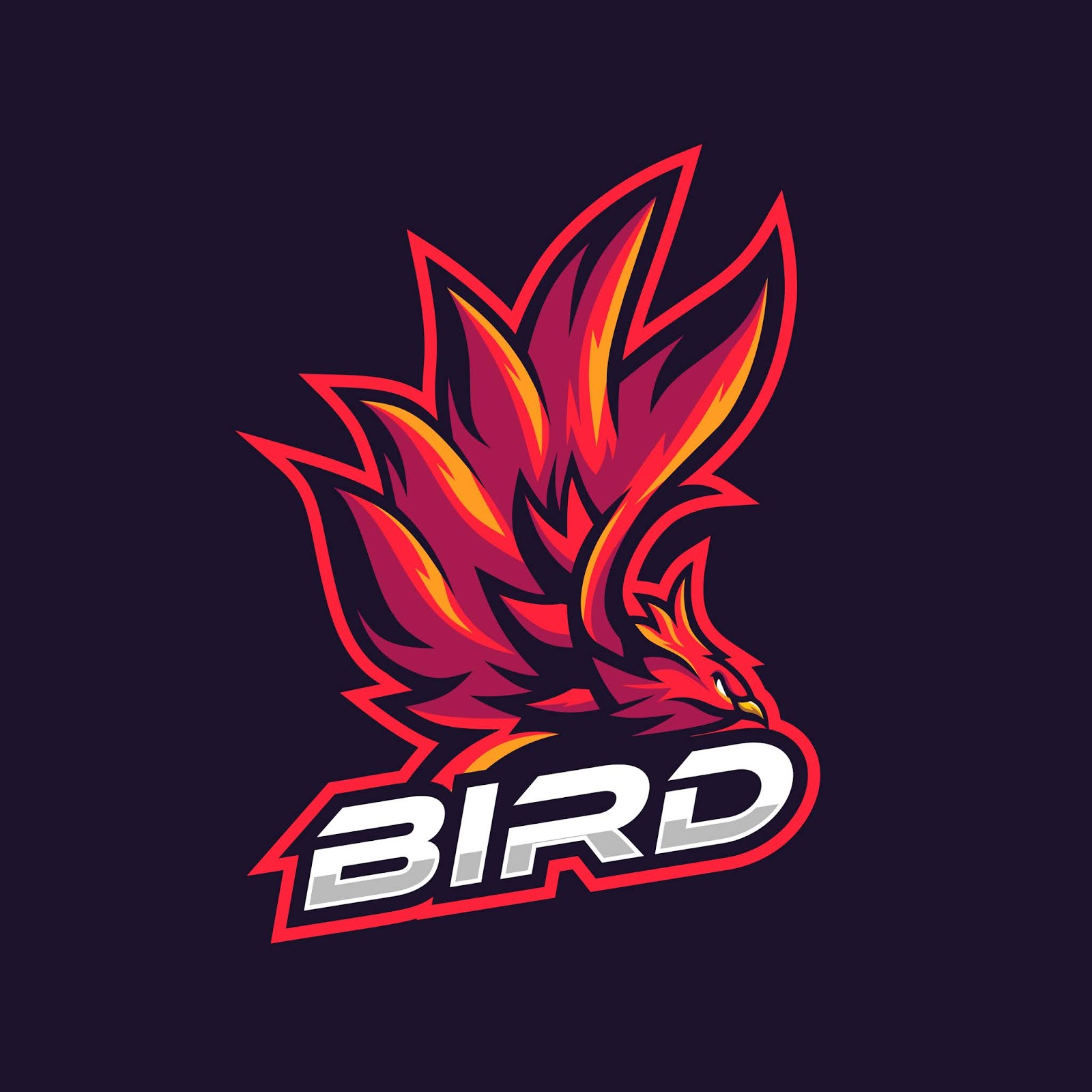 Awesome Red Bird Illustration Gaming Squad Free Download Vector CDR, AI, EPS and PNG Formats