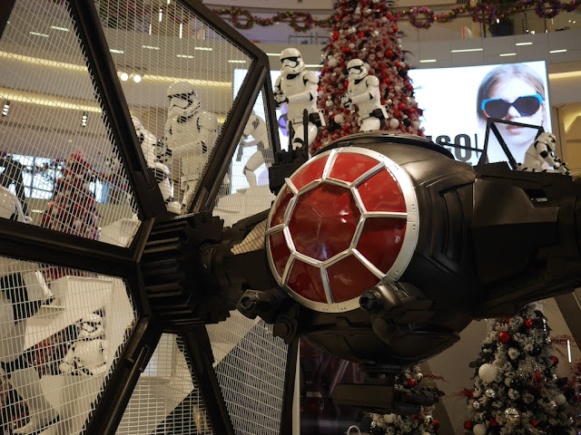 Star Wars TIE fighter at the IAPM shopping center in Shanghai