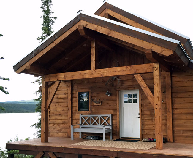 how to build a timber frame porch