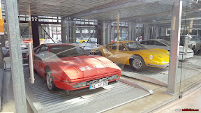 Ferrari 328 GTB and Yellow Dino