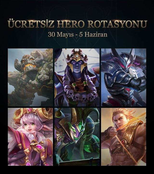Strike of Kings 30 Mayıs Ücretsiz Kahramanlar