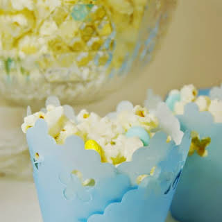 Baby Shower White Chocolate Popcorn.
